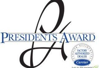 Carrier President's Award Recipient